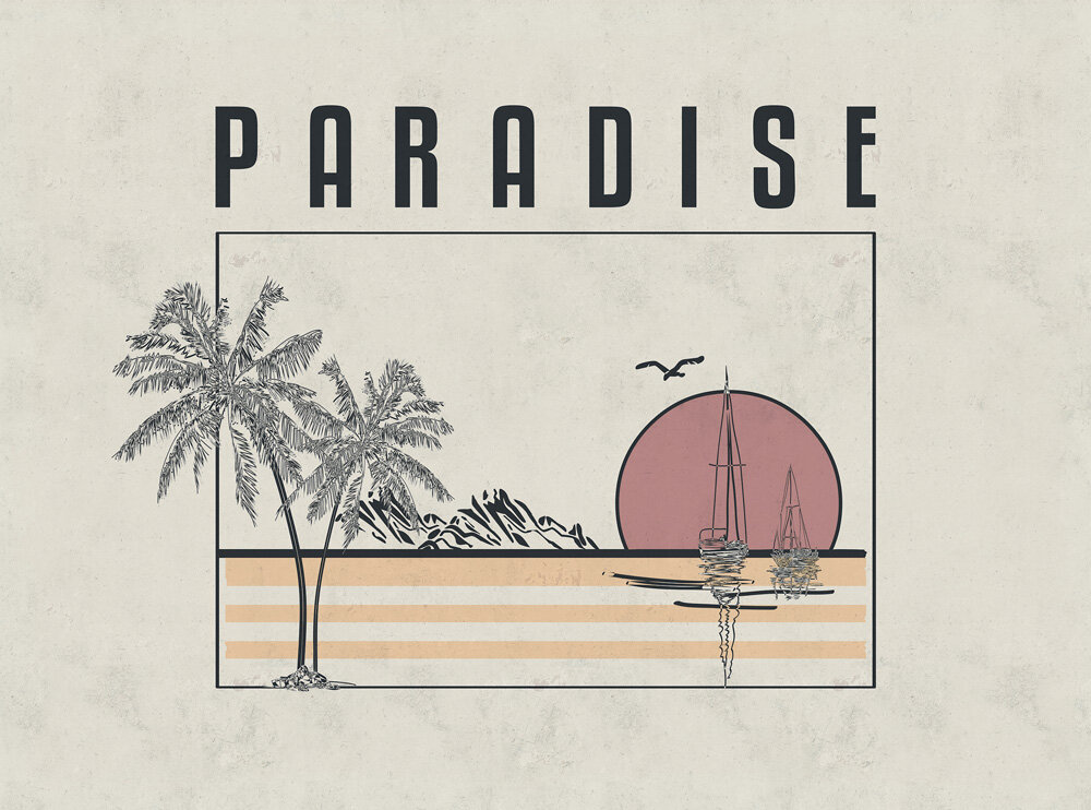 Coordonne Paradise Warm Mural - Product code: 8500120