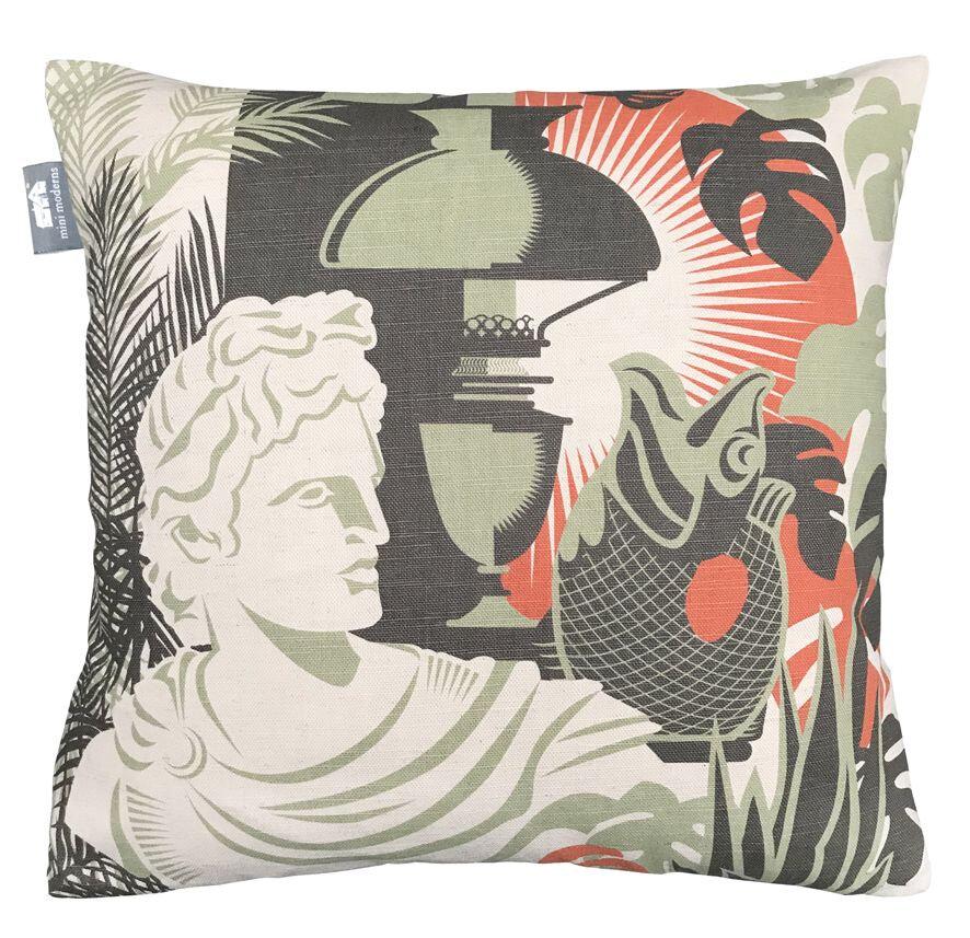 Art Room British  Cushion - Lichen - by Mini Moderns