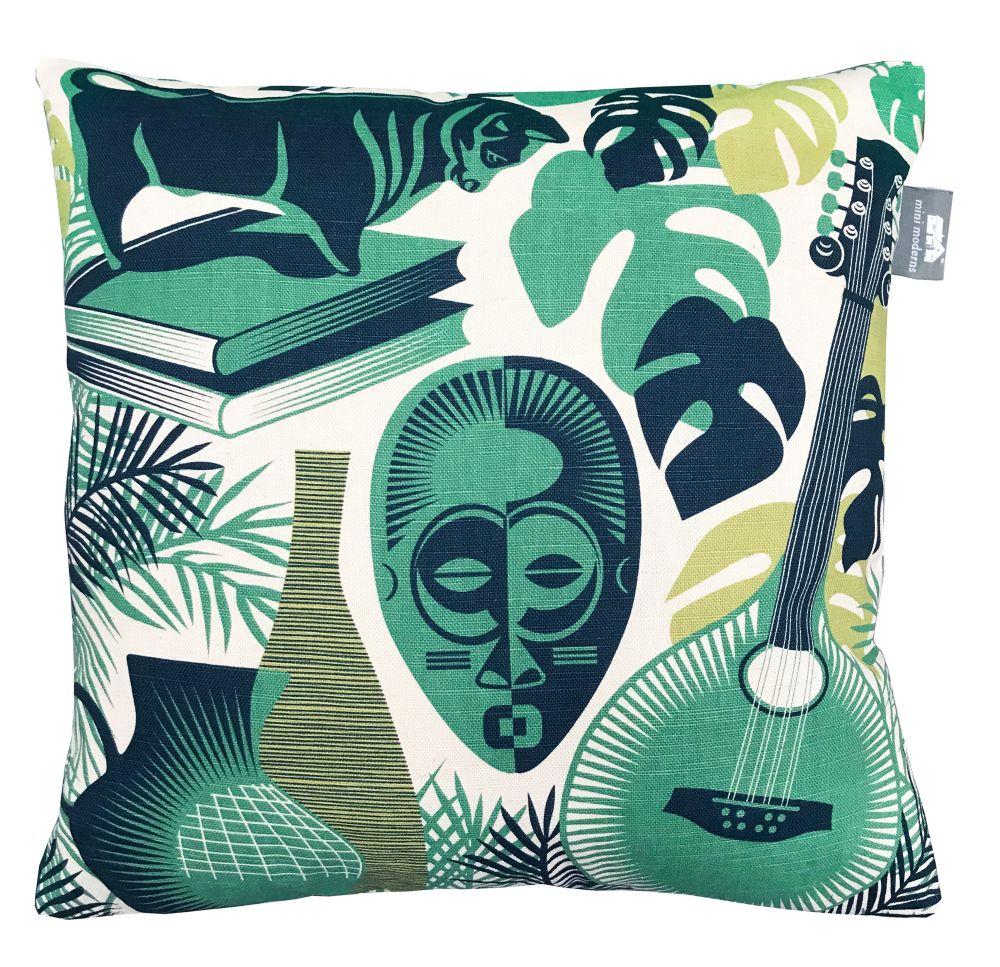 Art Room Coach Cushion - Emerald - by Mini Moderns