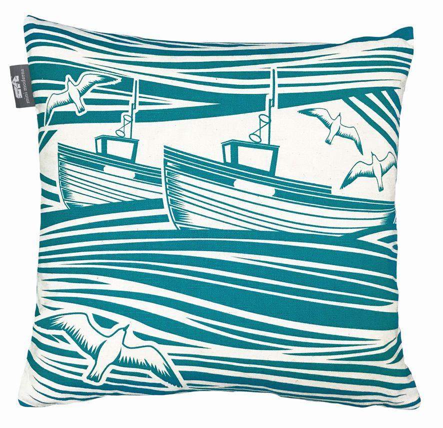 Whitby Cushion - Lido - by Mini Moderns