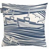 Mini Moderns Whitby Cushion Washed Denim - Product code: WHITBY WASHED DENIM