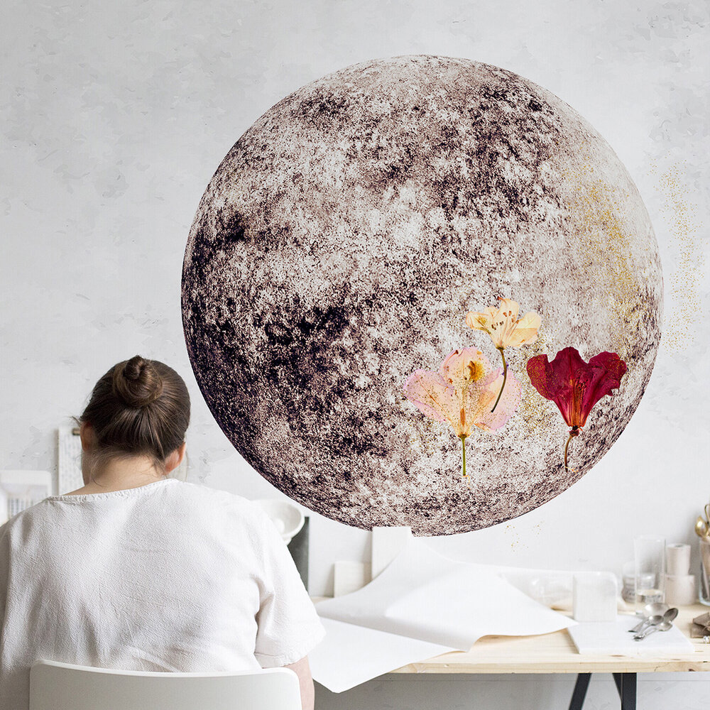 Full Moon Mural - Nude - by Coordonne