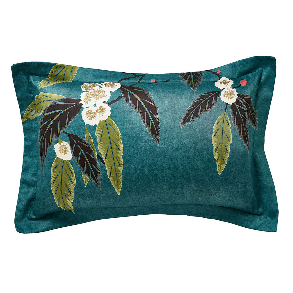Coppice Oxford Pillowcase - Peacock - by Harlequin