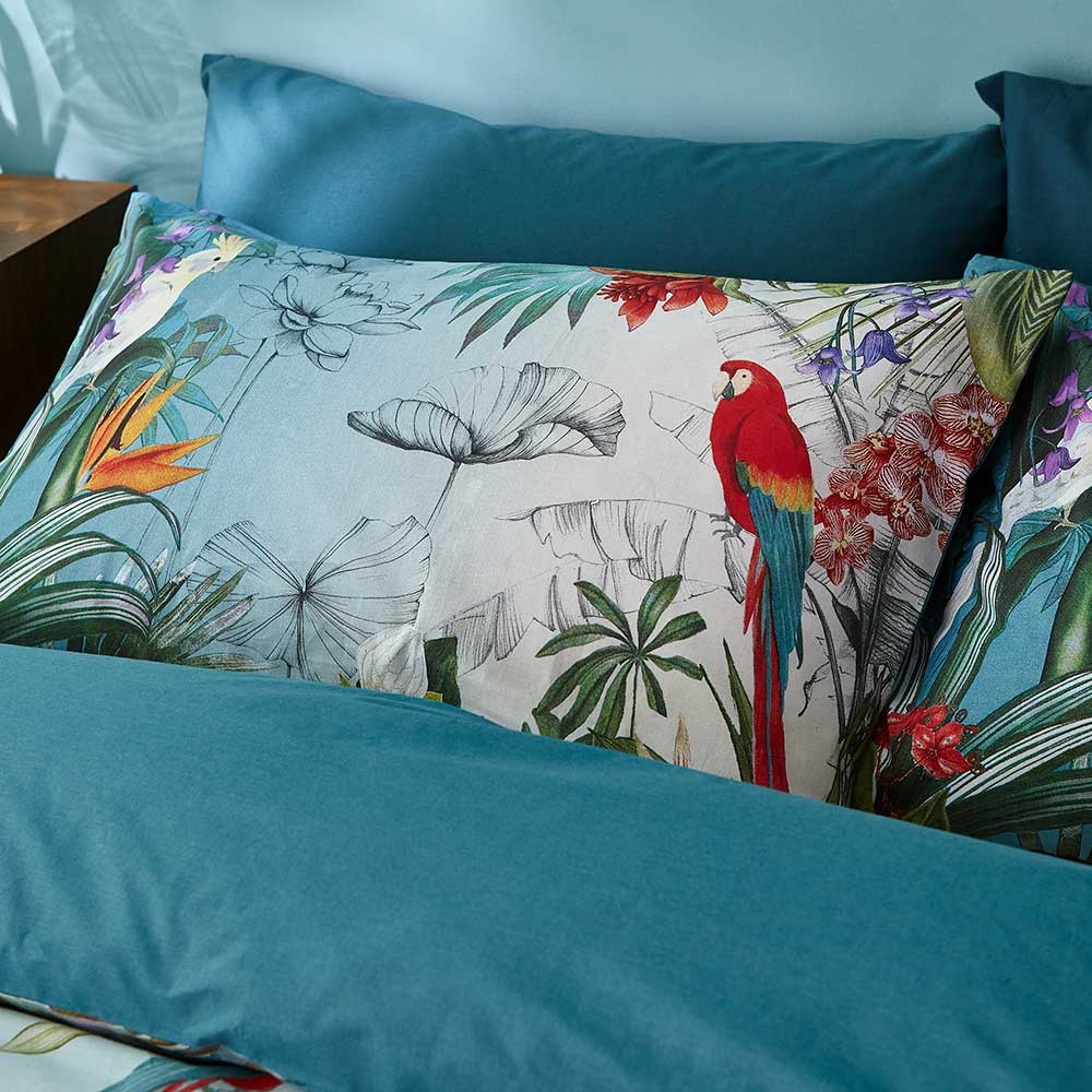 Paradise Duvet Set Duvet Cover - Teal - by Accessorize