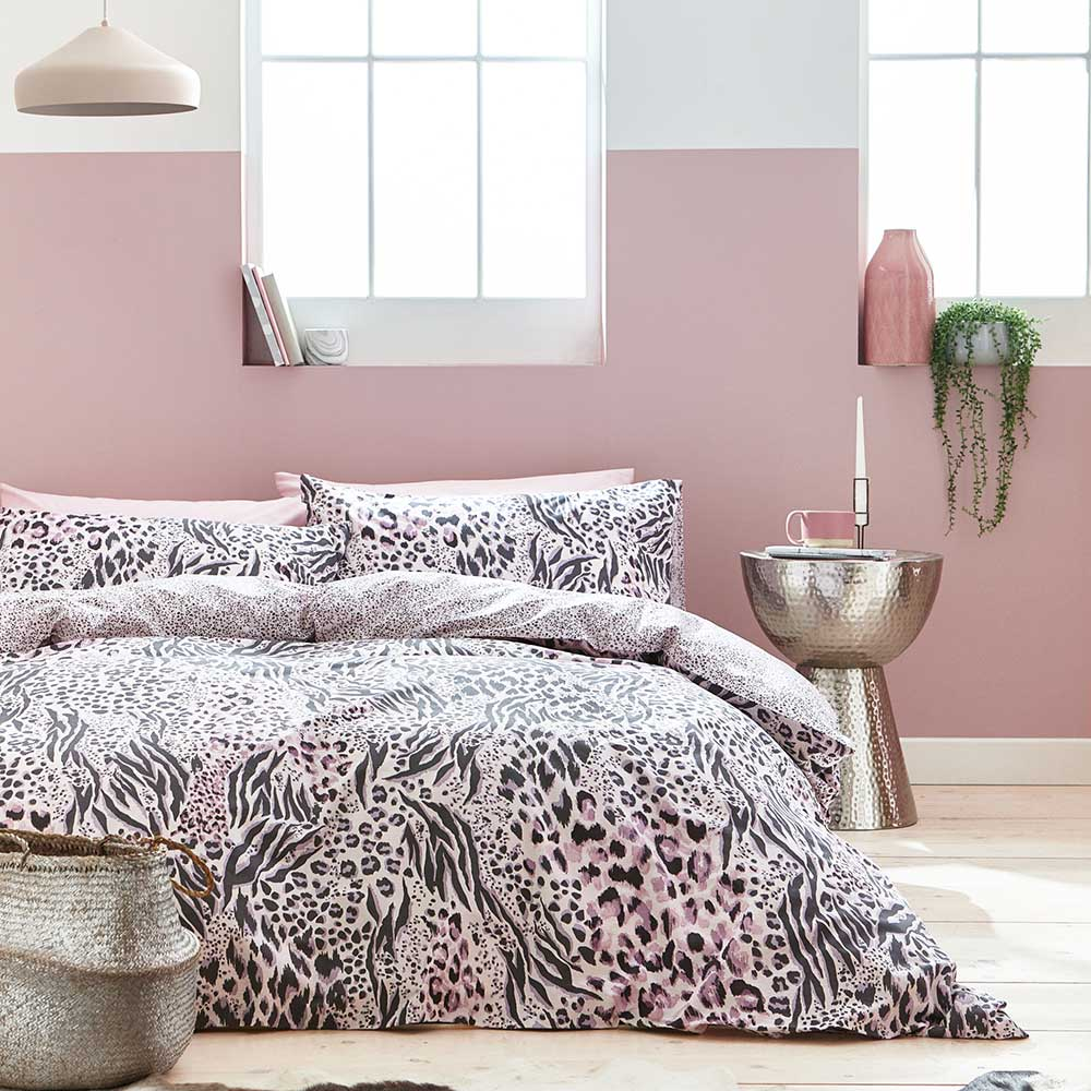 Accessorize Savannah Duvet Set Grey / Pink Duvet Cover - Product code: BD/52623/R/DQS/GY