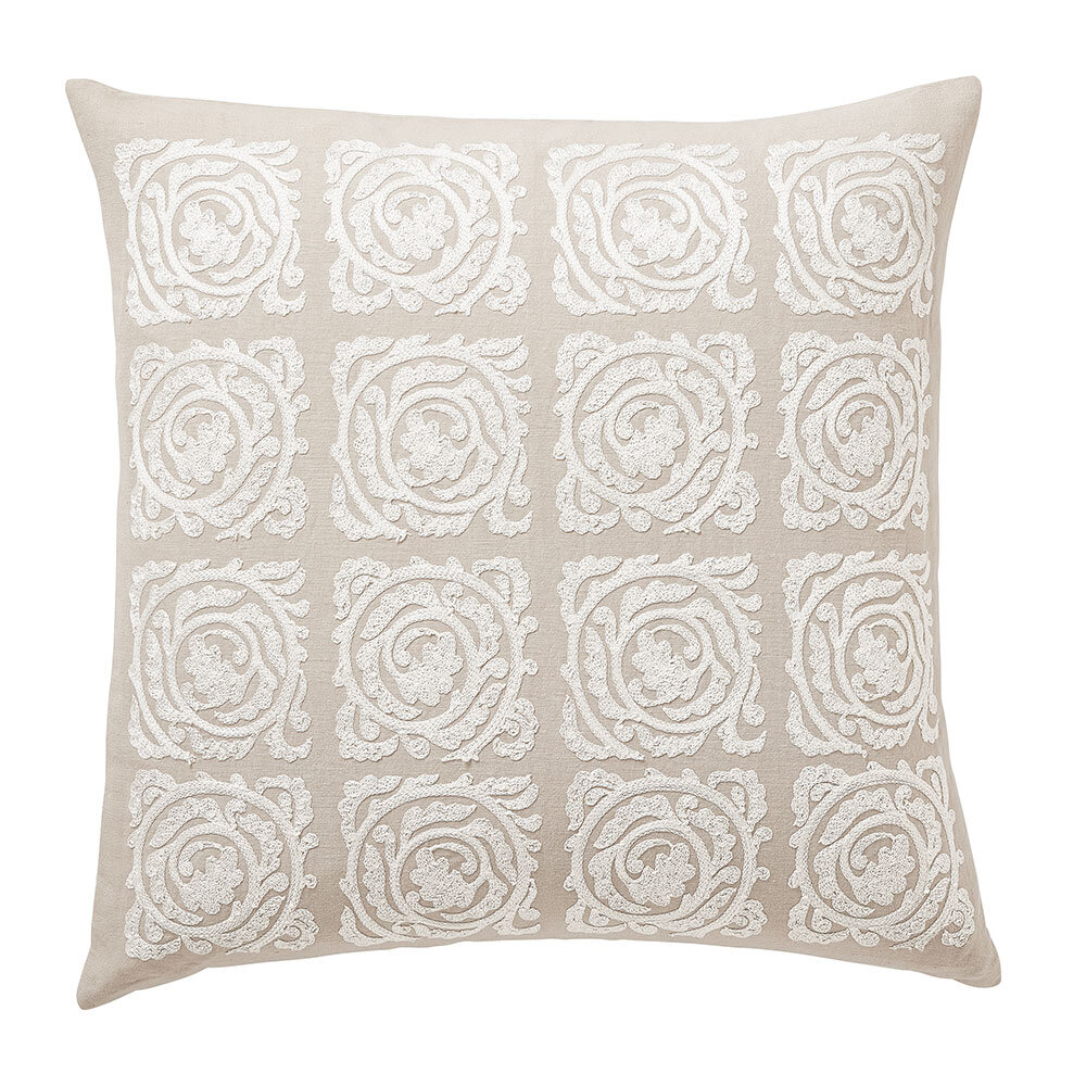 Pure Bachelor's Button Cushion - Faded Sea Pink - by Morris