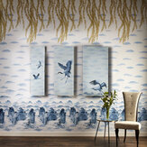 Kandola Flying Home Mural  Blue Sky - Product code: DW1682/01