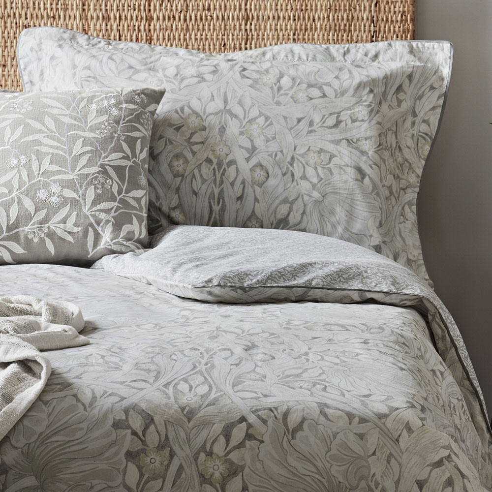 Pure Pimpernel Oxford Pillowcase - Lightish Grey - by Morris
