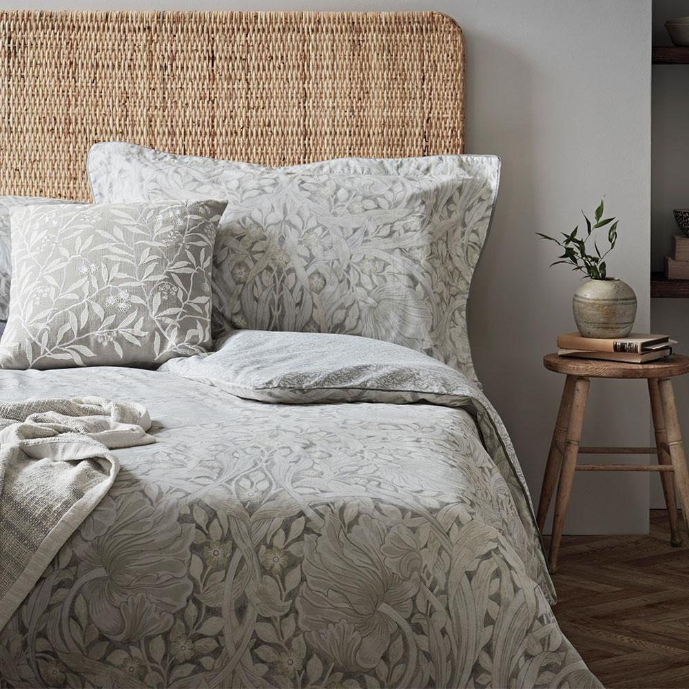 Morris Pure Pimpernel Cushion Lightish Grey - Product code: CSHPPIGCGRE