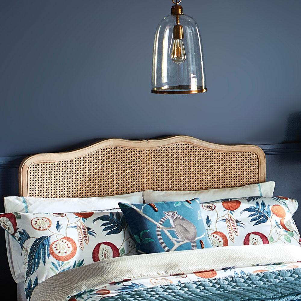 Jackfruit Oxford Pillowcase - Indigo - by Sanderson
