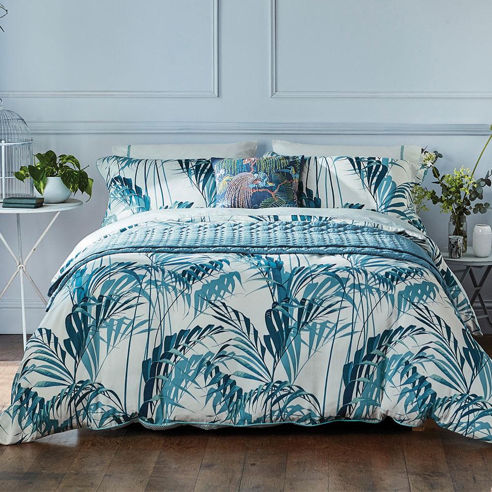 Palm House Duvet Cover - Eucalyptus - by Sanderson