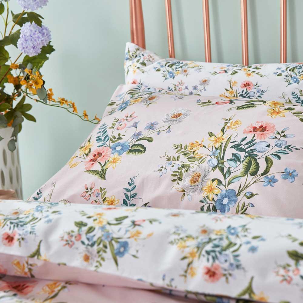 Botanical Vintage Duvet Set Duvet Cover - Blush - by Accessorize