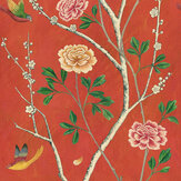 Sand & Sushi Wild Rose Chinensis India Crimson Wallpaper - Product code: WRCHINI