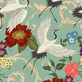 Sand & Sushi Manchurian Crane Eggshell Blue Wallpaper - Product code: MCESBLUE