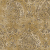 Galerie Damasco Netto String Yellow Wallpaper - Product code: 3722