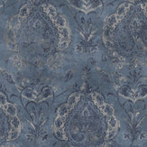 Galerie Damasco Netto Blue Wallpaper - Product code: 3727