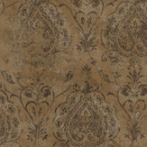 Galerie Damasco Netto Brass Wallpaper - Product code: 3728
