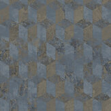 Galerie Cubo Netto Blue Gold Wallpaper - Product code: 3757