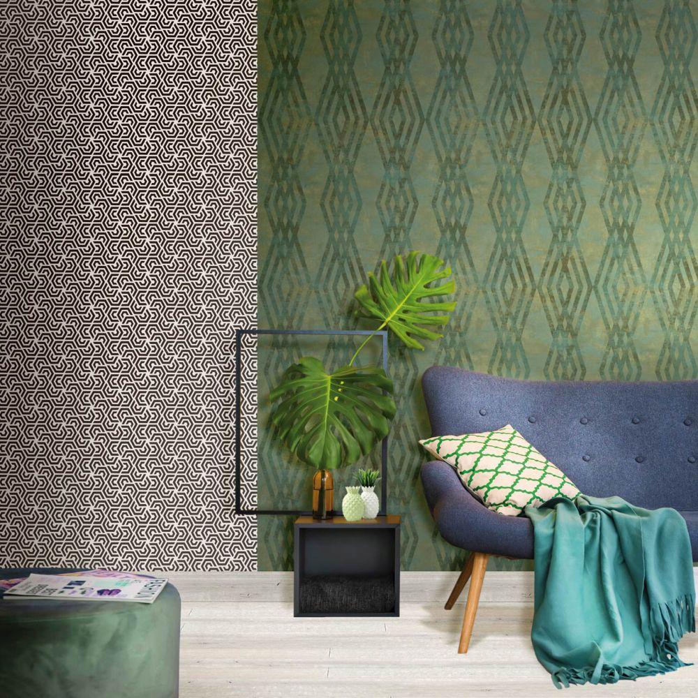 Galerie Rombo Netto Green Wallpaper - Product code: 3765