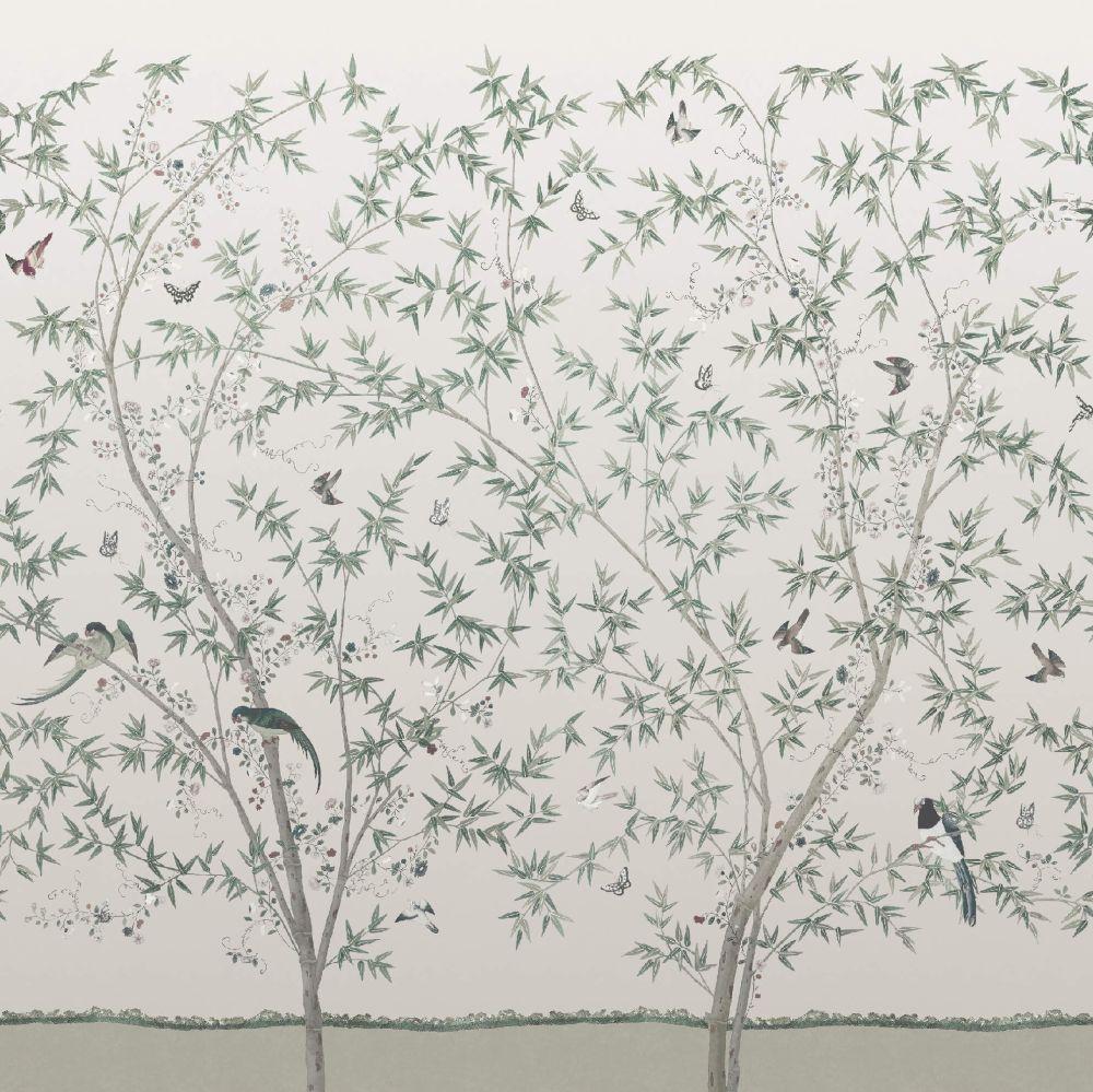 Belton Scenic Mural - Oyster - by Little Greene