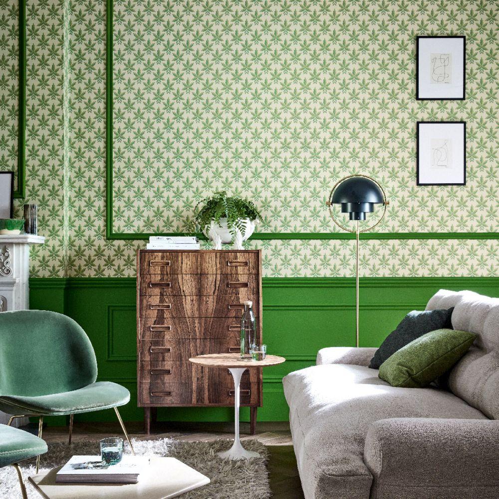 Clutterbuck Wallpaper - Lodge - by Little Greene