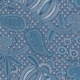 Little Greene Pomegranate Blue Scale Wallpaper - Product code: 0245POBLUES