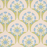 Little Greene Hencroft Blue Primula Wallpaper - Product code: 0245HEBLUEP