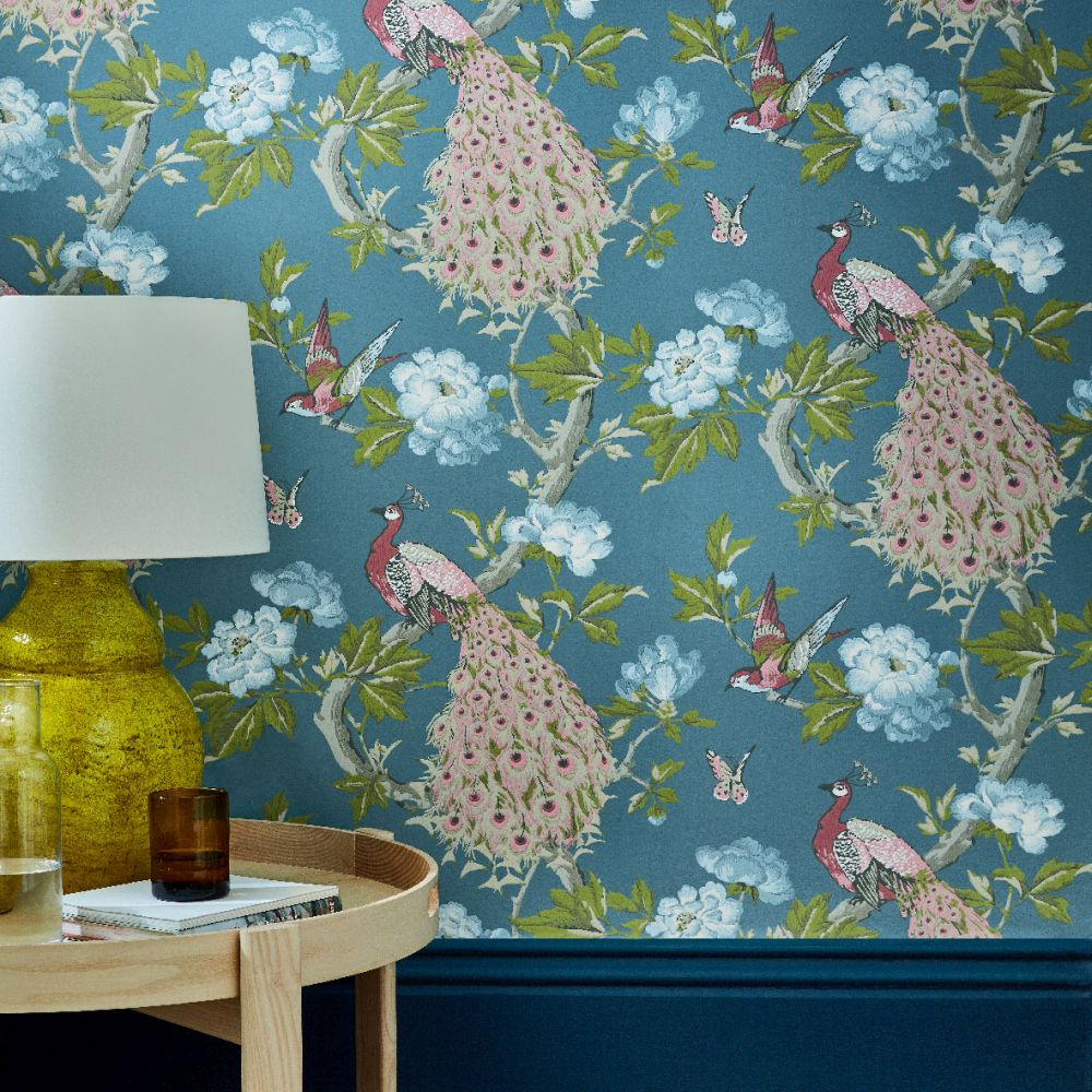 Pavona Wallpaper - Sylvie - by Little Greene