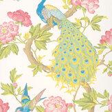 Little Greene Pavona Blanche Wallpaper - Product code: 0245PABLANC