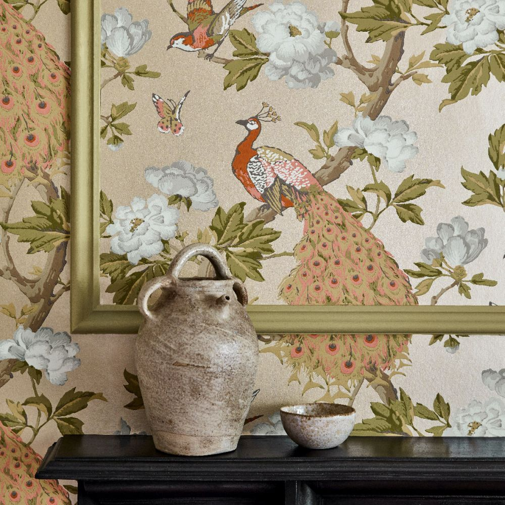 Pavona Wallpaper - Gina - by Little Greene