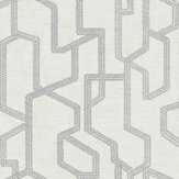 Clarke & Clarke Labyrinth Charcoal Wallpaper - Product code: W0123/01