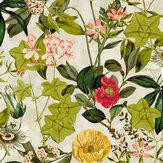 Clarke & Clarke Passiflora Linen Wallpaper - Product code: W0127/02