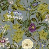 Clarke & Clarke Passiflora Slate / Amethyst Wallpaper - Product code: W0127/04