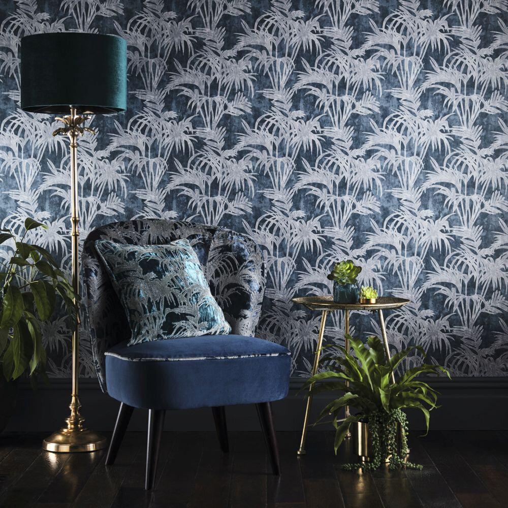 Tropicale Wallpaper - Midnight - by Clarke & Clarke