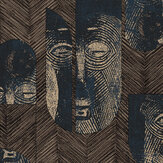 Khrôma by Masureel Mask Slate Wallpaper - Product code: TRI301