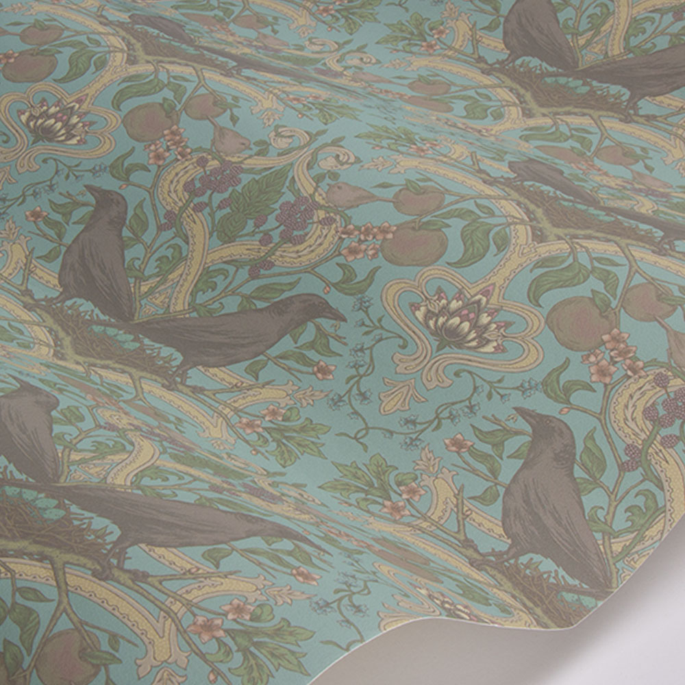 Crows Nest Wallpaper - China Blue - by Sand & Sushi