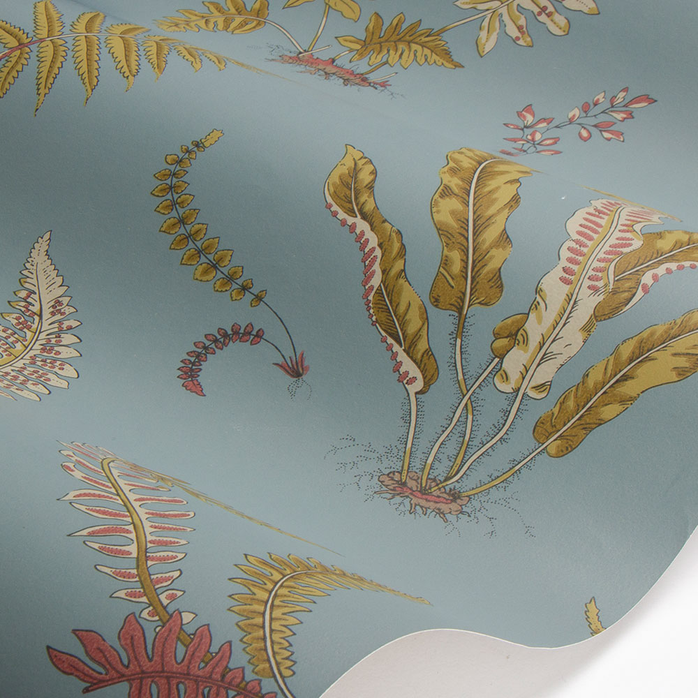 G P & J Baker Ferns Teal Wallpaper - Product code: BW45044/12