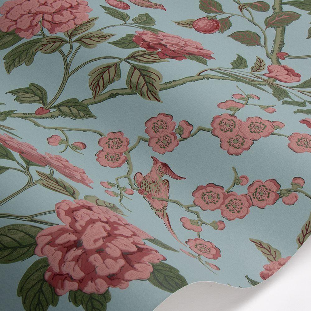Emperors Garden Wallpaper - Teal - by G P & J Baker