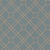 G P & J Baker Langdale Trellis Teal / Bronze Wallpaper - Product code: BW45071/12