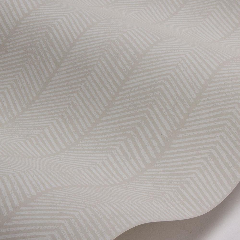 Herringbone Wallpaper - Stone - by G P & J Baker