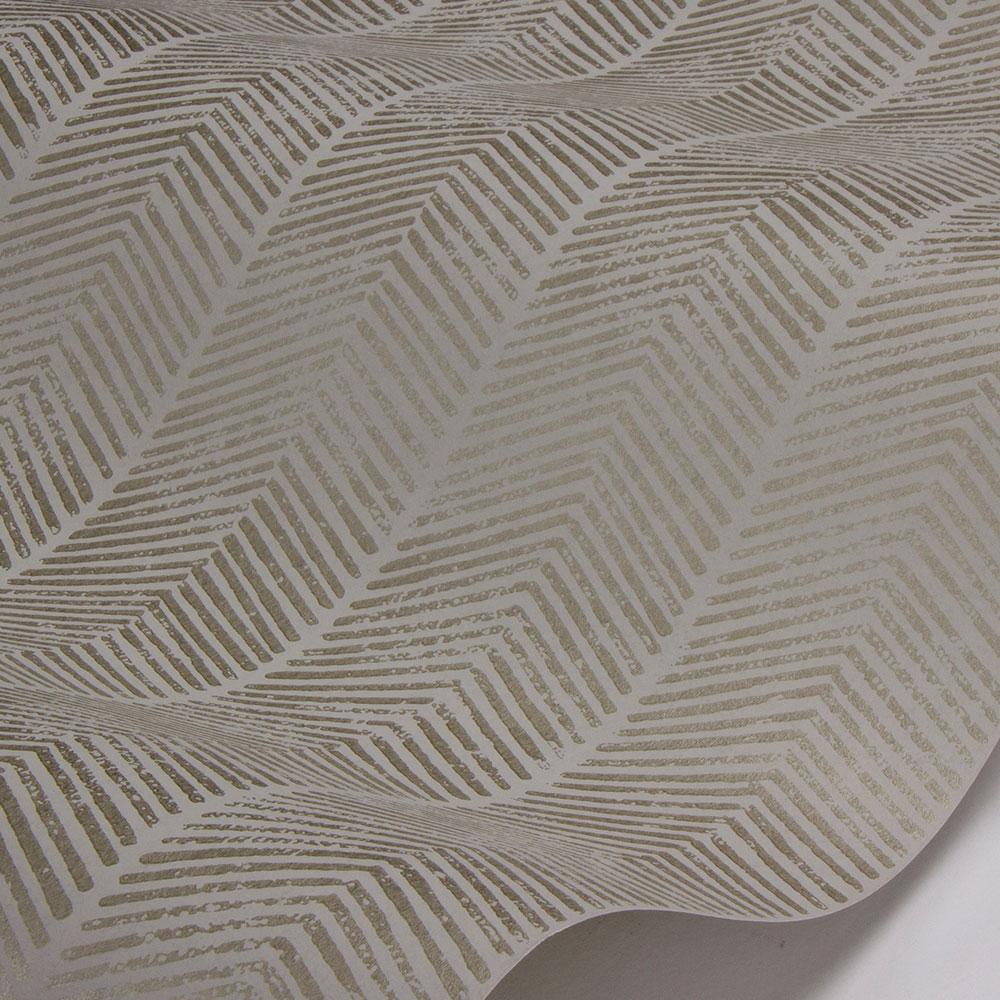 Herringbone Wallpaper - Linen - by G P & J Baker