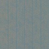 G P & J Baker Herringbone Teal Wallpaper - Product code: BW45085/4