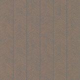 G P & J Baker Herringbone Charcoal / Bronze Wallpaper - Product code: BW45085/5