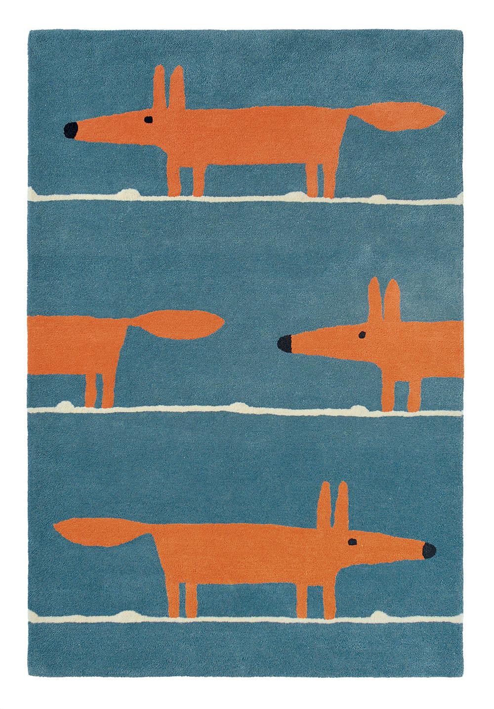 Mr Fox Rug - Denim - by Scion