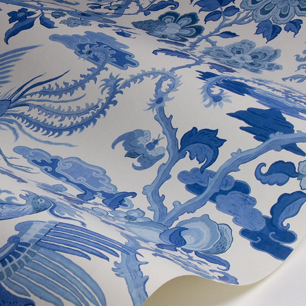 Chifu Wallpaper - Indigo - by G P & J Baker