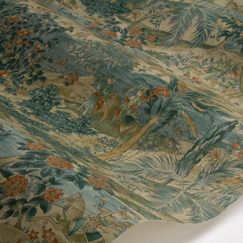 Ramayana Wallpaper - Sage / Multi - by G P & J Baker