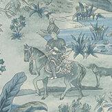 G P & J Baker Ramayana Blue Wallpaper - Product code: BW45088/2