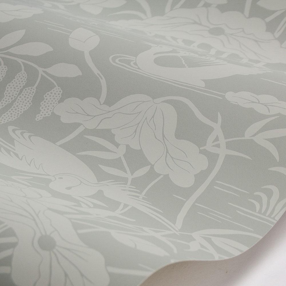 G P & J Baker Heron & Lotus Flower Aqua Wallpaper - Product code: BW45089/3