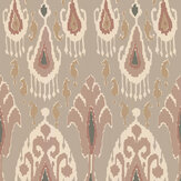 G P & J Baker Ikat Bokhara Blush Wallpaper - Product code: BW45090/1