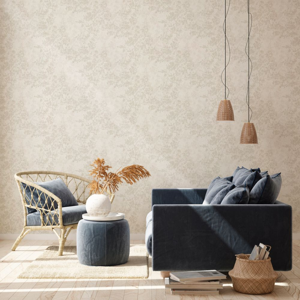Branches Wallpaper - Ivory - by New Walls